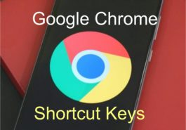 google chrome shortcut key